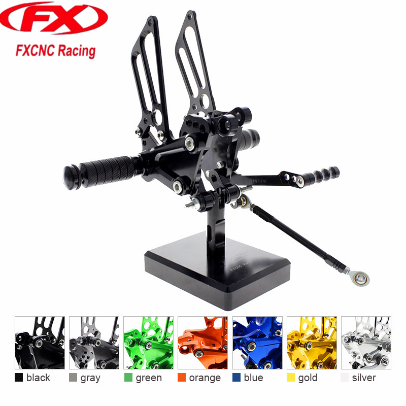 FX CNC Aluminum Adjustable Motorcycle Rearsets Rear Sets Foot Pegs Pedal Footrest For MV Agusta F4 F4 1000 1998 - 2007 2008 2009 cnc aluminum motorcycle adjustable rearset rear set foot pegs pedal footrest for kawasaki ninja 650 ex650 er 6n er 6f 2012 2016