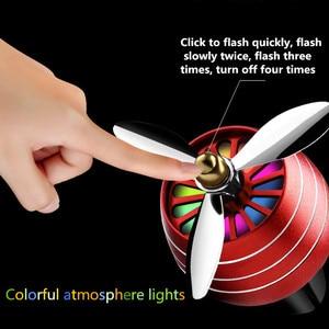 Image 2 - Hava Spreyi Araba Kokusu LED Mini Klima Havalandırma Çıkışı Parfüm Klip Taze Aromaterapi Koku Alaşımlı Oto Araba Aksesuarları