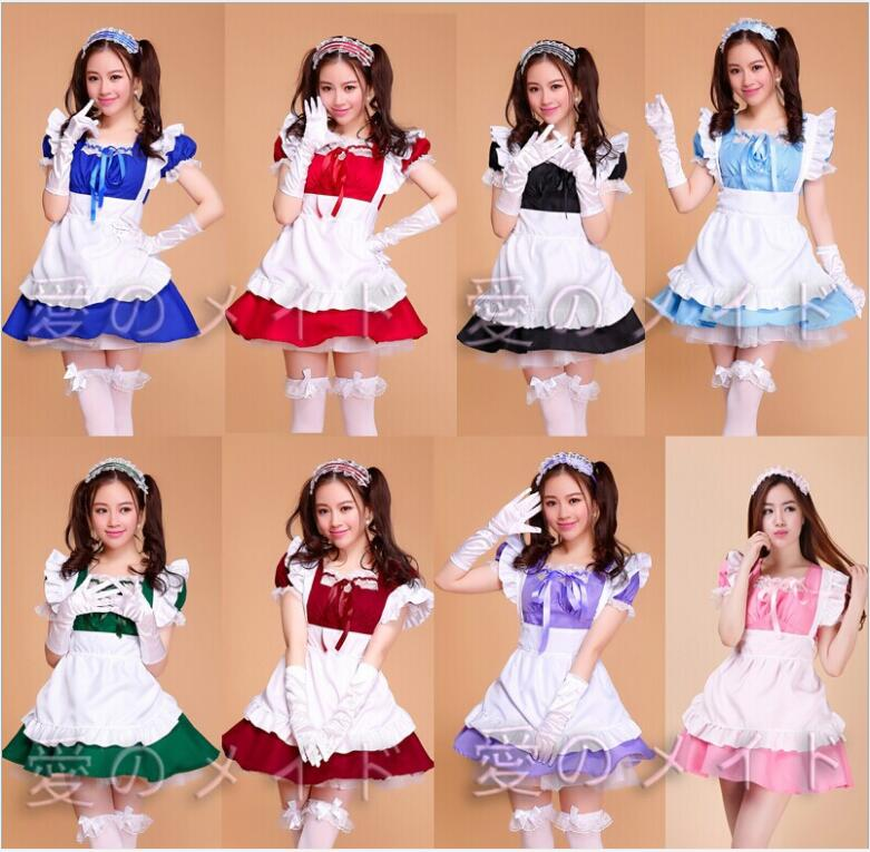 Halloween Costumes For Women Sexy French plus size Maid Costume Sweet Gothic Lolita Dress Anime Cosplay Sissy Maid Uniform