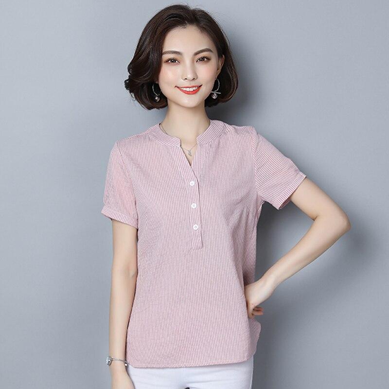 Pink Button Shirt Blusa Feminina Summer Top Blusas Mujer De Moda 2018 Womens Tops And Blouses Roupa Chemise Femme