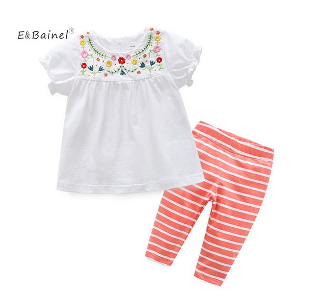 3b7337da4 US $14.39 |E&Bainel Summer Newborn Baby Girl Clothes Infant Leisure Suits  Girls Two Piece Baby Set Children's Clothes Baby Girl Clothing-in Clothing  ...