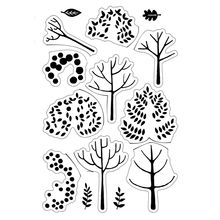 Trees Transparent Clear Silicone Stamp/Seal for DIY scrapbooking/photo album Decorative clear stamp perpetual calendar design for transparent clear silicone stamp diy scrapbooking photo album clear stamp christmas gift cl 055