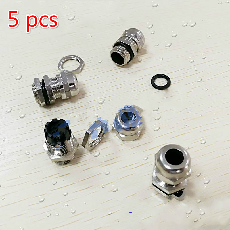 5 pcs Thermowell nipple Connector brass M12*1.5 Waterproof connector Silicone seal brass metric thread cable glands jiahui gx12 5 12mm brass plastic waterproof connector silver 4 pcs