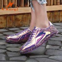 NKAVQI Women Fashion Shoes Women Flat Platform Lace Up Ladies Board Shoes Black PU Leather Womens Shoes Sneakers tenis feminino