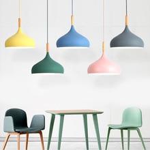цена Modern pendant lights nordic pandant lamp loft style design hanging lamp wood dinning room kitchen home decor light fixtures LED онлайн в 2017 году