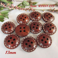Sewing supplies 144pcs 13mm 4 holes dotted line wood shirt buttons clothing handmade sewing accessories wholesale