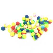 100Pcs Mixed Colourful Spacer Beads Round Acrylic Fashion Jewelry DIY Making Findings Charms 8mm