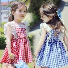 Lace strap stripe dress lolita princess cute dresses for girls baby party tutu lol Spanish vestidos costume kids clothes gift