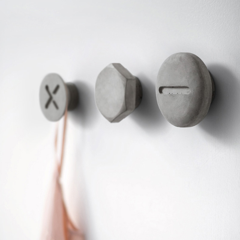 Screw Design Concrete Coat Hanging Silicone Mold Home Decoration Cement Furnishing Mold Hook Mold