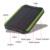 DCAE 5 W 10000 mah Portátil de Viaje A Prueba de agua Solar Banco de la Energía Externa Dual del USB Del Cargador Del Panel Solar Para Todos Los Teléfonos