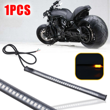 1PC DC 12V Flexible 48 LED SMD Strip Motorcycle Car Amber Turn Signal Light Red Brake Stop Light Lamp Super Bright 3528 LED 18w 1200lm 635 700nm 300 smd 3528 led red light car flexible decoration strip dc 12v 500cm