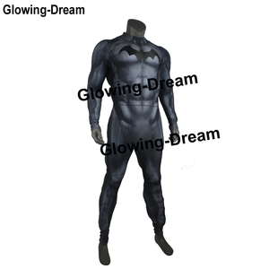 Image 3 - Glowing Dream High Quality Relif Muscle Padding Batman Suit Embossed Muscle Batman Cosplay Costume With Logo For Men