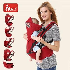 Эргономичная переноска для новорожденных, комфортный Рюкзак из натурального хлопка для новорожденных