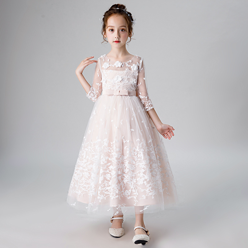 Boutique fille robe de princesse modérateur robe de soirée Piano Costume filles robe de fête de noël élégant enfants robes pour les filles