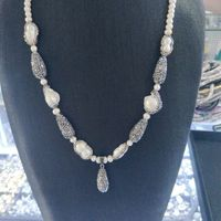 High Quality Nature Pearl Necklaces Pendants Fashion Women 32inch Long Necklace With Pendants Ladies Party Jewelry