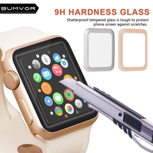 BUMVOR  4D Full Cover Soft Edge gel glass film For i Watch 42mm Screen Protector Film for Apple 38 mm Series 1 2 3