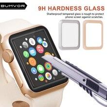 цена на BUMVOR  4D Full Cover Soft Edge Full gel glass film For i Watch 42mm Screen Protector Film for Apple Watch 38 mm Series 1 2 3