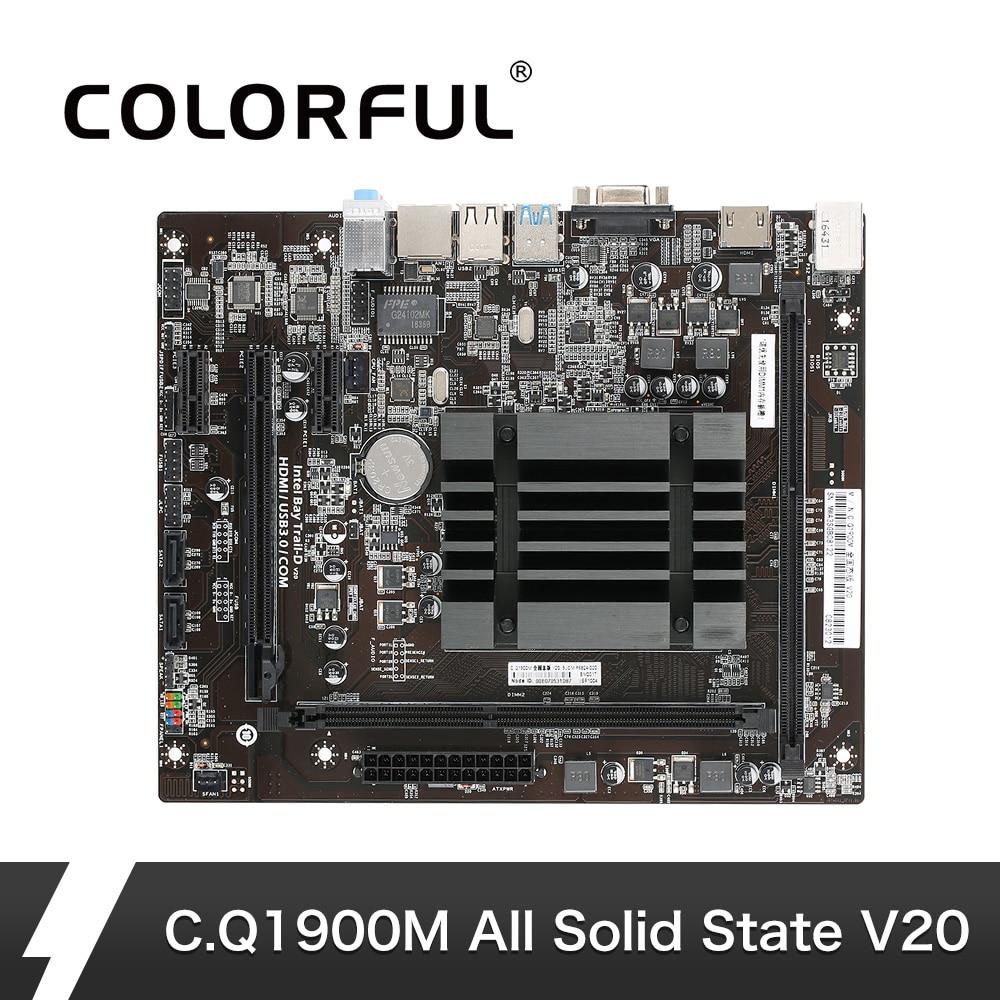 Kleurrijke C. q1900M Alle Solid State V20 Moederbord Systemboard voor Quad Core Celeron J1900 Geïntegreerde HD Graphics 4000 mATX DDR3-in Moederborden van Computer & Kantoor op AliExpress - 11.11_Dubbel 11Vrijgezellendag 1