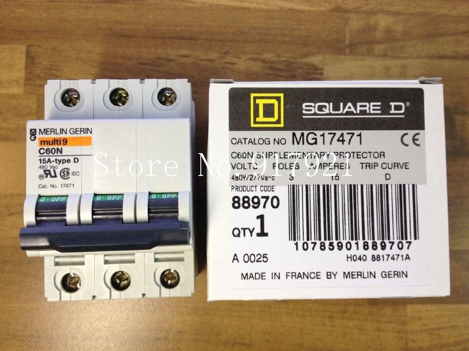 [ZOB] original Multi9 C60N 15A D original France MG 17471 circuit breaker 3P15A  --5pcs/lot dhl eub 10pcs new original for schneider c65n 1p d63a breaker 15 18