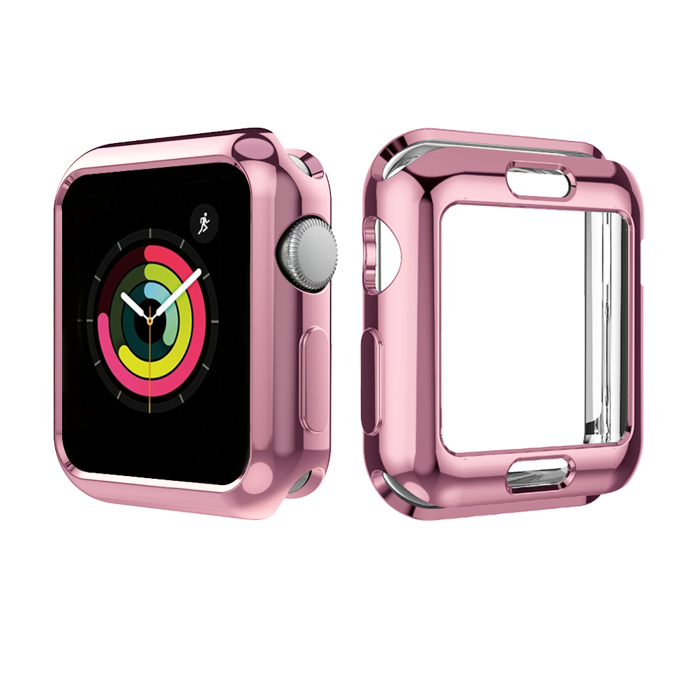 5 Colors Soft TPU Full Protect Shell Case Cover for Apple Watch Series 3 2 1 38/42mm Cases Protector Ultra Thin Case for iWatch-in Smart Accessories from Consumer Electronics