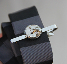 original designer tie clip steam punk mechanical watch core decoration for men tie clip creative accessory
