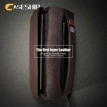 Caseship роскошный первый Слои чехол для iPhone 6 6S 7 кожа флип чехол Мода бумажник Чехлы для iPhone 7 Plus 6 6S плюс крышка Капа