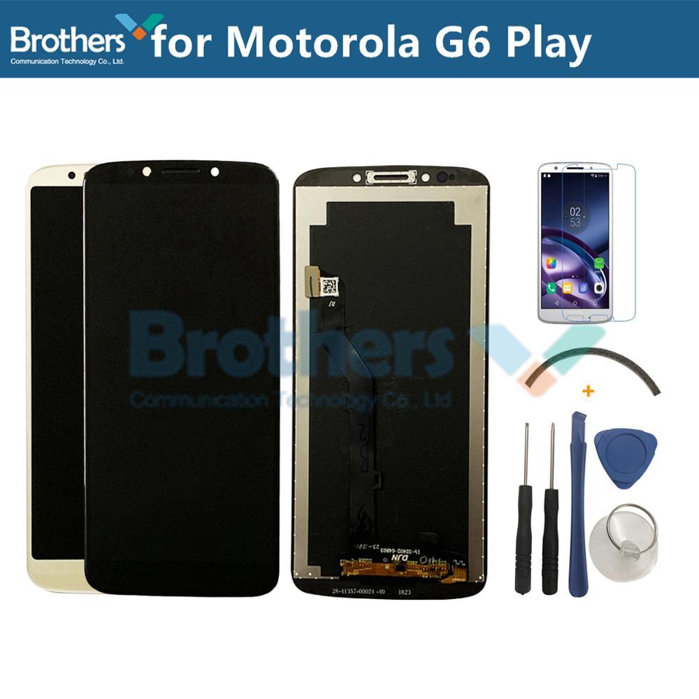 Para Motorola Moto G6 Jogar Screen Display LCD de Toque Digitador Assembléia Painel para XT1922 Lcds Do Telefone Móvel Peças de Reposição 5.7
