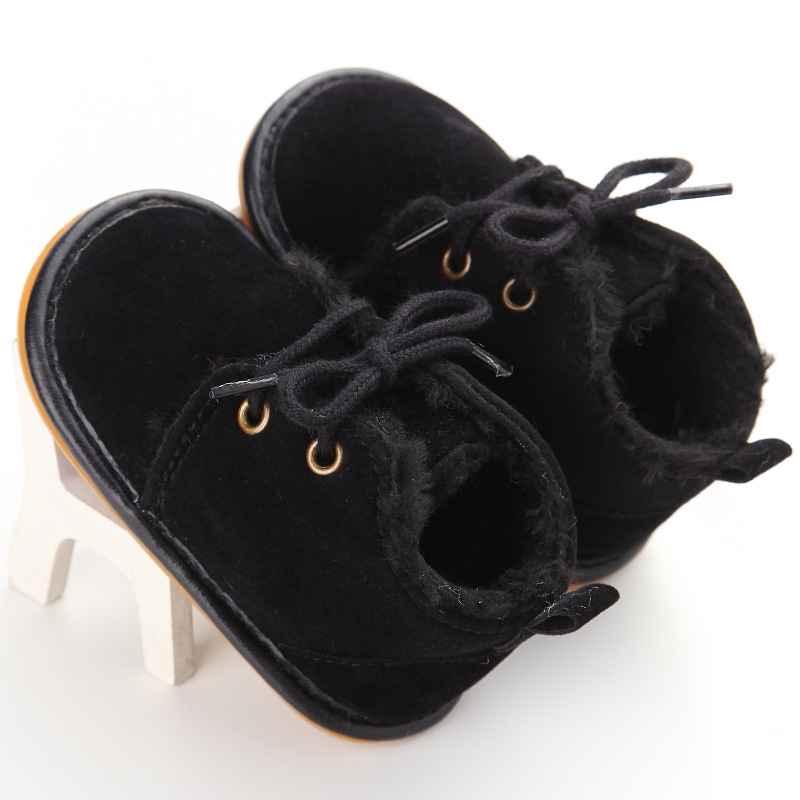 New Winter Baby Ankle Boots with Plush Fashon Newborn Baby Warm Boots Infant Toddler Shoes Rubber Sole Baby Moccasins