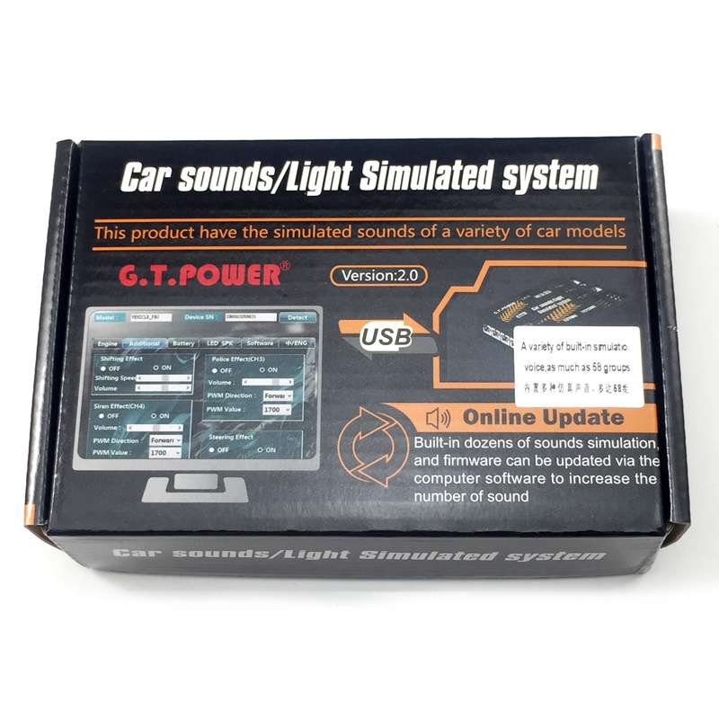 GT POWER RC Car Toy Module Sounds Light Simulated System for Road Grader Climbing Car SUV