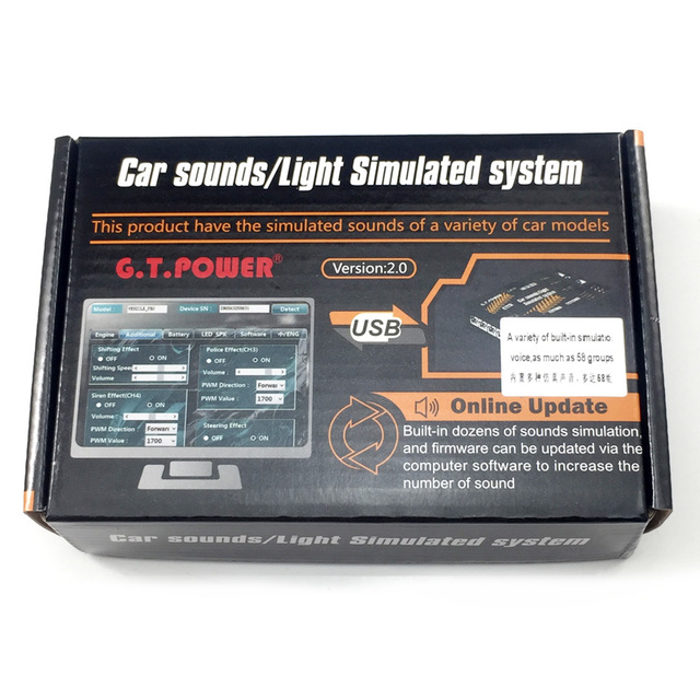 GT POWER RCรถของเล่นโมดูลเสียง/Lightจำลองระบบแผนที่เกรดปีนเขารถSUVรีโมทคอนโทรลรถบรรทุกรถDIY Part