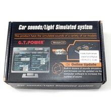 Gt電力rc車のおもちゃモジュール音/光模擬システム道路年生登山車suvのリモートコントロールトラック車両diyパーツ