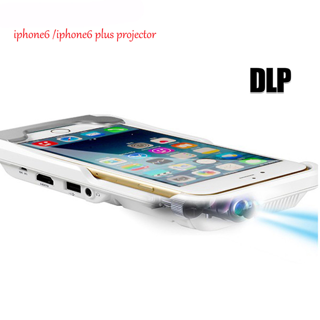 2016 Latest Portable mini Full HD LED projector for iphone6 / 6S plus phone multimedia home cinema 3D movie video projectors