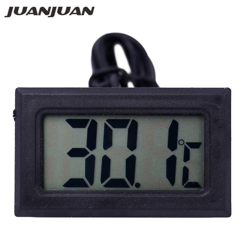 Mini cyfrowy termometr LCD Czujnik temperatury Automatyczna kontrola Lodówka z zamrażarką Termometr 20% zniżki