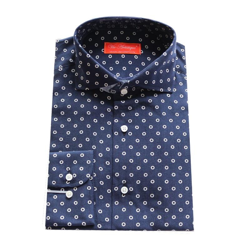 Nothing looks cuter with a full skirt than a well-designed cheap women's polka dot shirt. The dots look great in white against a dark background. Select navy blue or black as background colors that go with virtually everything.