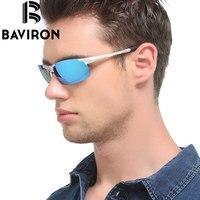 BAVIRON Semi Rimless Okulary Wędkarskie Mężczyzn Płaskiej Powierzchni Okulary Spolaryzowane Lekkie Okulary Jazdy Filtr Promienie Okulary 8177