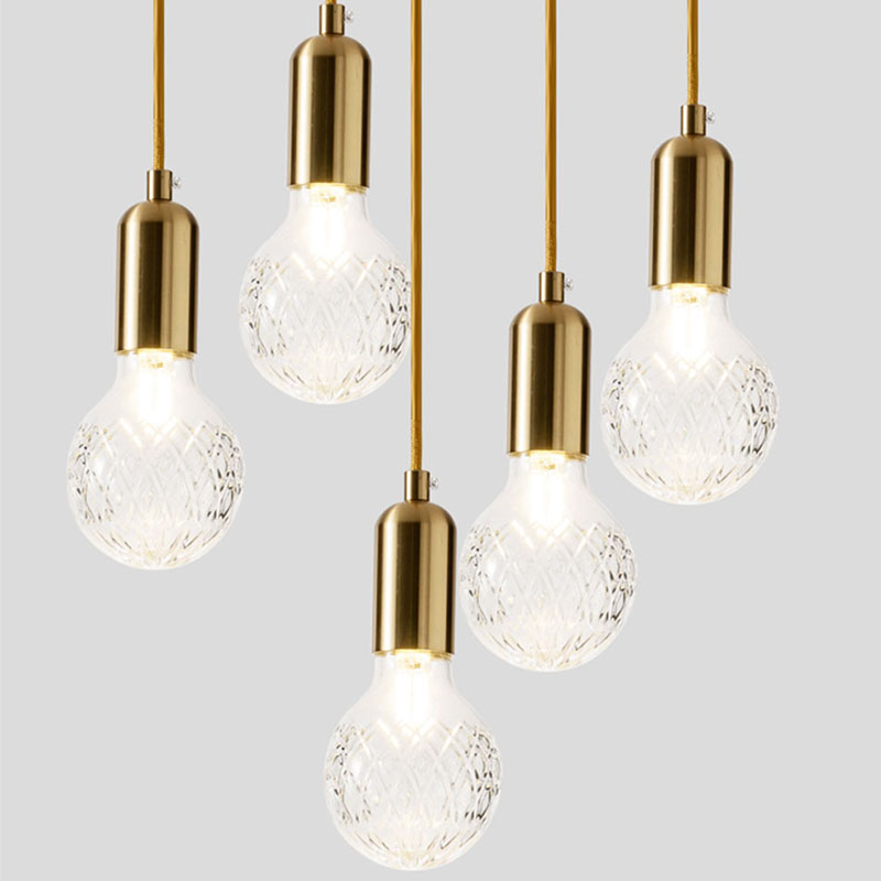 Modern Pendant Light Single bulb Arts Decoration lighting Gold Suspension Pendant Lamp For Lobby Bar Dining Room with G9 light цена