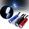 4pcs 1200lm 9 LED Bright White Light Aluminum Mini Portable Flashlight Torch lamp angle adjustment Handsfree light portable
