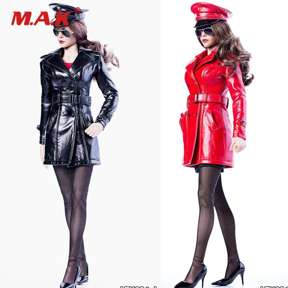 1/6 женский длинный кожаный костюм королевы, шляпа и обувь, аксессуар для солнцезащитных очков 12 дюймов, фигурки DIY ATX036