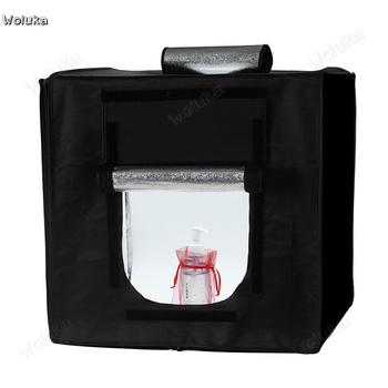 LED Studio zestaw mały strzelanie pudełko oświetleniowe miękkie światło box prosty zdjęcie pudełko oświetleniowe sprzęt CD50 T07 tanie i dobre opinie Pakiet 1 woluka 40*40*40cm soft light cloth 1 8kg