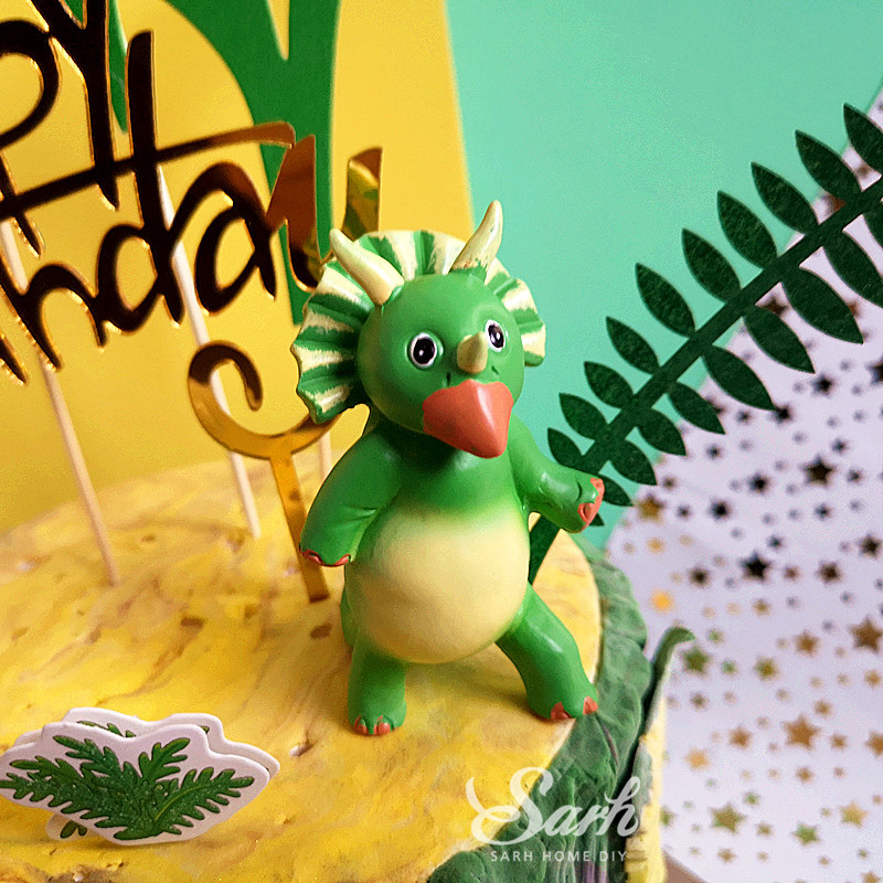 Image 4 - Coco Tree Leaf Cartoon Dinosaur Cake Topper Dessert Decoration for Birthday Party Lovely Gifts-in Cake Decorating Supplies from Home & Garden
