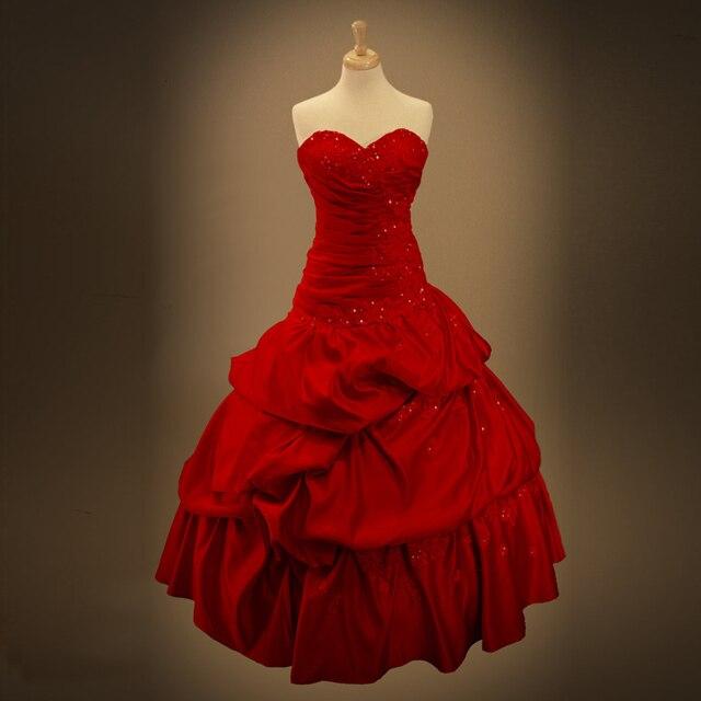 Vestido novia civil rojo