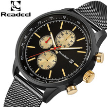 Readeel Mens Watches Mens Watch Kuarza Watch Stainless Steel Mesh Jam Lelaki Watch Kalis Air Relogio Masculino reloj de hombre