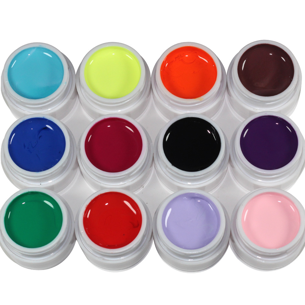 US $6 84 41% OFF 2018 Gel Nail Paint Polish Draw Painting Colors UV Bio Gel  Long lasting Glitter Soak Off 12 Colorful Nail Polish-in Nail Gel from