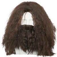 Хагрид вьющиеся Гарри Поттер Косплэй волос с бородой Хеллоуин костюм реквизит для Для мужчин для взрослых