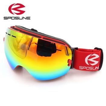 цена на 2018 New Ski Goggles Double Lens Women Men Anti-fog Snow Eyewear Snowboard Glasses gafas de esqui glasses ski Skiing Goggles