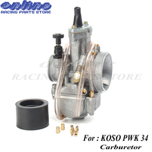Motorcycle Carbyretor 34mm for koso pwk34 carburetor Carburador with power jet fit on 125cc to 250cc 2T/4T engine racing