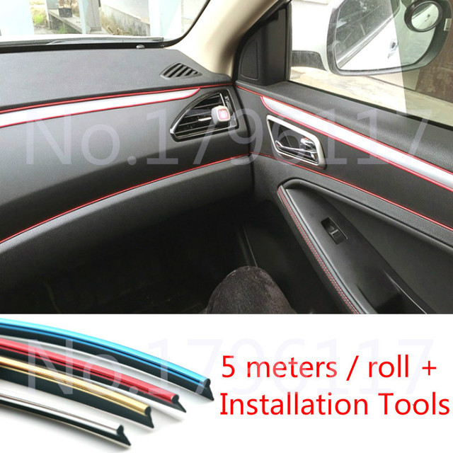 Review 5M Car Styling Door Moulding Trim Automotive Truck Chrome Strip Auto Body trim Edge Gap Line Plan - Inspirational decorative door trim Plan