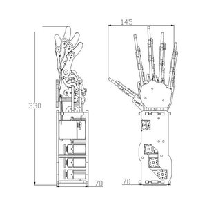 Image 5 - תעשייתי רובוט זרוע ביונית רובוט ידיים גדול מומנט סרוו אצבעות עצמי תנועה מכאני יד עם לוח בקרה
