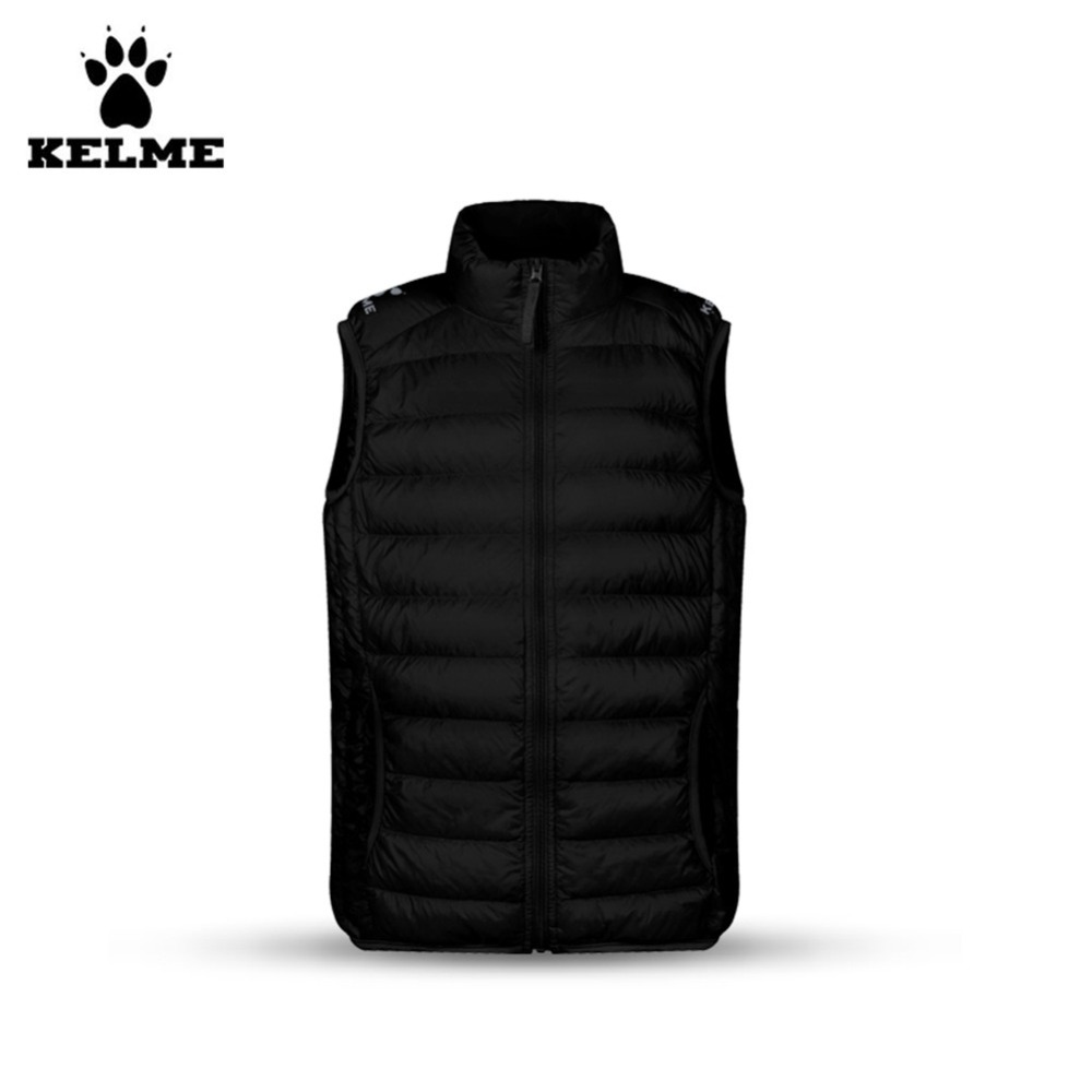 Kelme Children K15P004 Stand Collar Down Vest Black