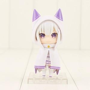 Image 2 - 10cm anime re: vida em um mundo diferente do zero emilia figura 751 q versão pvc figura de ação colecionável modelo de brinquedo